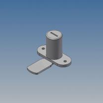 Serratura a chiave per profilo bacheca h26mm