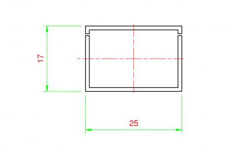 Canalina elettrica H 17x25