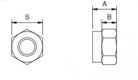 Dado autobloccante - M6 - classe 6s