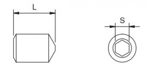 Grano STEI - M8x12 - 12.9