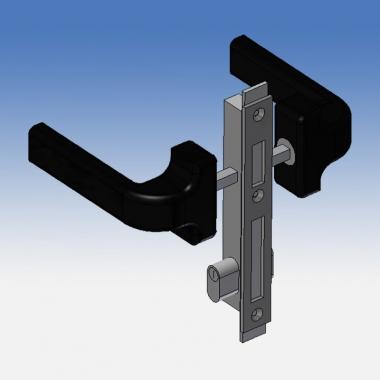 Kit completo maniglia e serratura