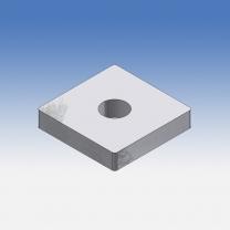 Tappo piatto quadrato per profili 30x30