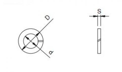 Rondella elastica grower - 10 ( 10.5x17.5x2.2) - C70