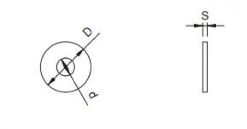 Rondella piana larga - 4 (4.3x12x1) - 100HV