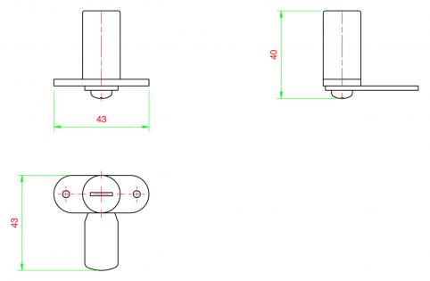 Serratura a chiave per profili 30x30 h31mm