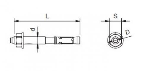 Tassello Simplex ancor. D8