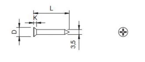 Vite autofilettante TSP - Ø2.9x13 - C15