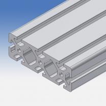 Profilo in alluminio 120x40