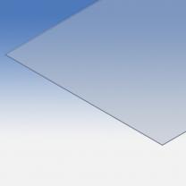 Pannello in plexiglass azzurrato