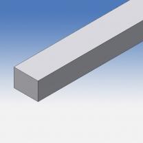Profilo in alluminio piatto 15x20mm