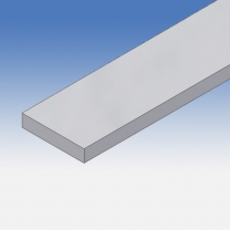Profilo in alluminio piatto 50x10mm