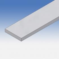 Profilo in alluminio piatto 60x10mm