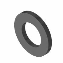 Rondella piana - 16 (17x30x3) - 140HV